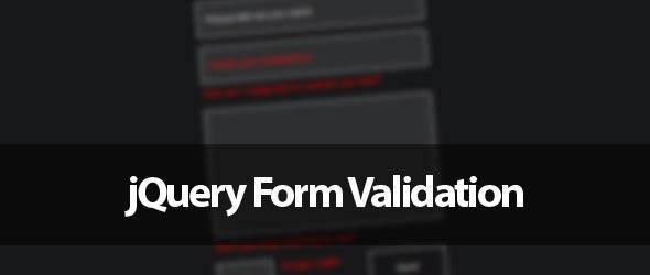 Validar formularios con jQuery